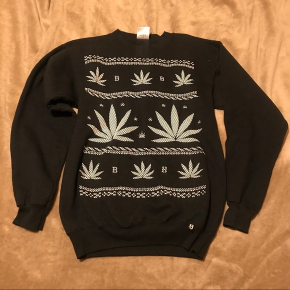 Sweaters Pot Leaf Ugly Christmas Sweater Men Size S Poshmark